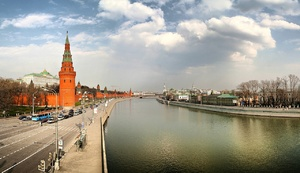 Spring at Moscow-river
