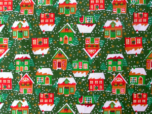 Xmas houses background