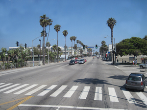 American street: A road in Santa Monica.