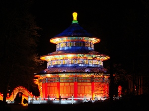 China's Light Castle: A building from the China festival of light in Emmen