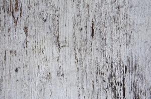 chipped white paint on wood