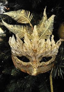 christmas gold mask