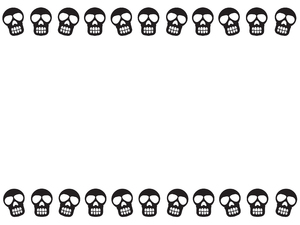 Dancing Skulls Border 5: Dancing Skulls border/poster for Halloween.
