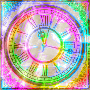 Clock Collage 1: A rainbow coloured clock collage (made form a public domain image). You may prefer:  http://www.rgbstock.com/photo/nS52DM2/Fantasy+Clock+2  or:  http://www.rgbstock.com/photo/nsFIXsm/Clock