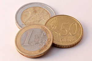 Euro money pieces