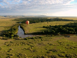 Hot air Balloon over the Masai