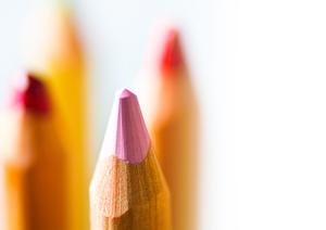 Coloring pencils copy space