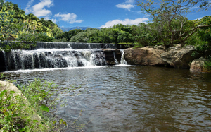 Waterfall at Ibiapaba: An interesting and wonderful waterfall at Ibiapaba's Mountain in the Ceara's State - Brazil.