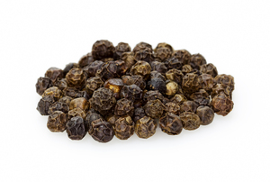 Black Peppercorn: Whole Tellicherry peppercorn used for spice and seasoning