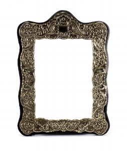 Frilled Metal Frame: Rectangular metal frame with stamped frills