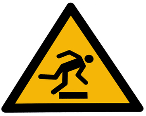 caution tripping hazard
