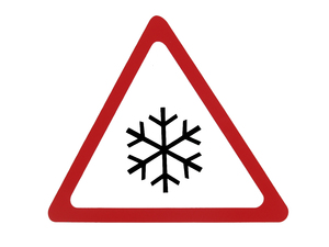snow sign: snow sign