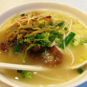 pork and noodles soup