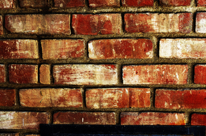 Brick Wall: Wall built from used brick. Highly saturated and detailed