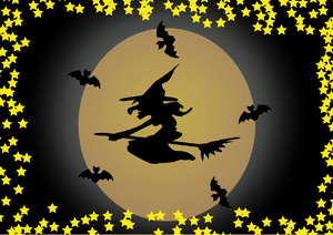 Halloween Scene Witch 5A