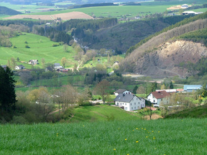 Village in the hills: A little village in the Ardennes,Belgium