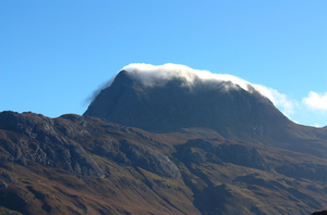 Slioch: Leniticular clound over Slioch, NW Scotland