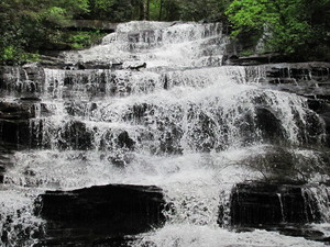 Waterfall: Waterfall in the north Georgia Mountains