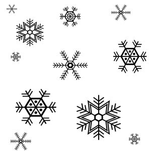 Snowflake Design Background 3
