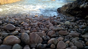 Water touching stones