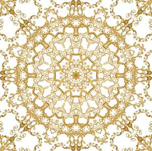 Gold Filigree Seamless Tile 4