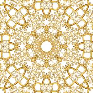 Gold Filigree Seamless Tile 8