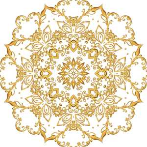Gold Filigree Seamless Tile 6