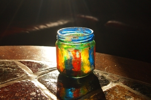 Jar of glass on the table