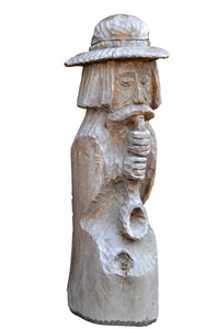 wooden statue-isolated