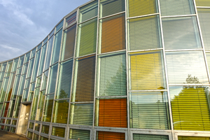 colourful blinds architecture