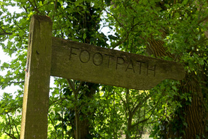 Old footpath sign