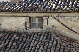 old building roof