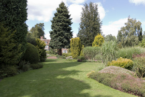 Garden lawn and borders