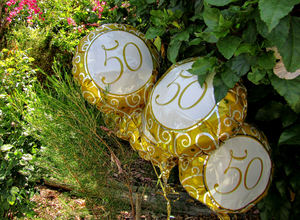 happy fiftieth4: special celebratory helium filled balloons