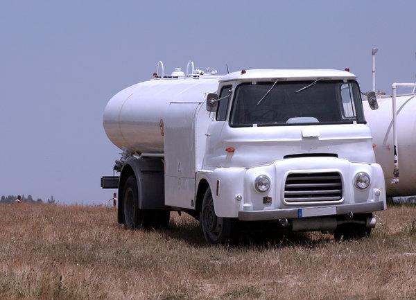 old petrol truck