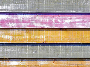 colors: colored wooden beach hut