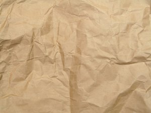crumpled envelope