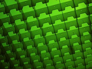 Trays of light: Green fluorescents