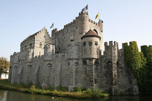 Belgian castle 1: The castle in Ghent, Belgium.