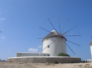 Windmill on Mykonos, Greece