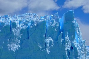 Glacier wall: Close up of a glacier's wall at Patagonia