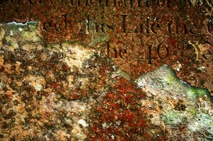 Ancient Grave: Decaying tombstone texture.