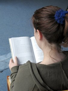 girl reading: none