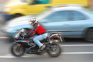 Speed of motorcycle
