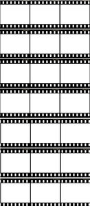 A lot of negative film strips