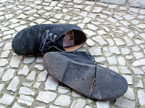 Old traveller's shoes