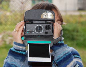 Making photo by instant camera