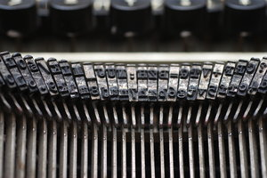 Type from vintage typewriter 3: A typewriter is a mechanical or electromechanical device with a set of