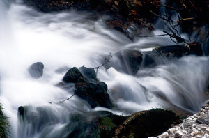 Running water_6: Water creeks and  streams at the mount Pindos in Greece