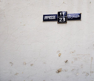 Impasse: Another wall from another street in my neighborhood